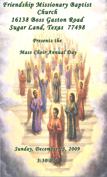 Mass Choir Annual Day 2009 - Friendship Missionary Baptist ...